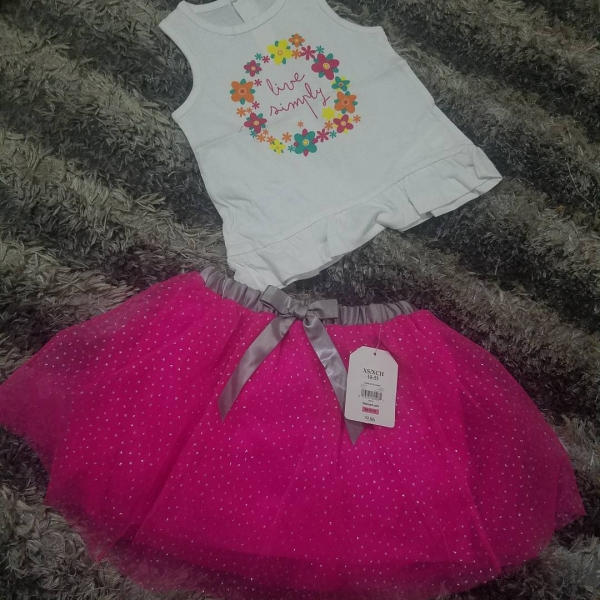 TUTU SKIRT AND TOP for Sale